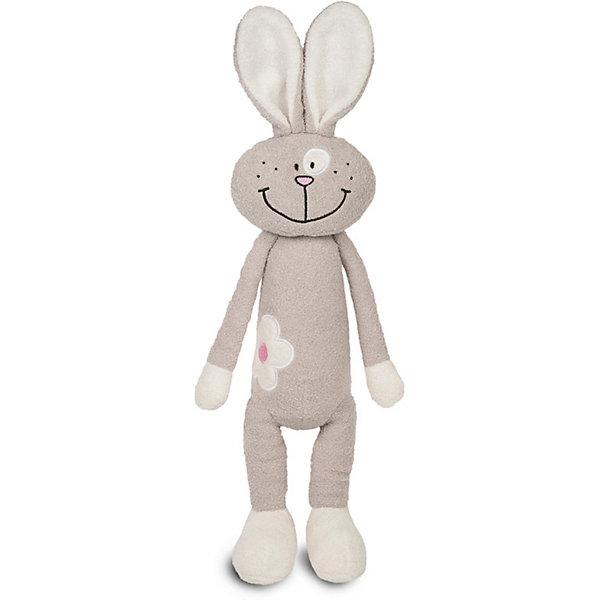 Maxitoys Мягкая игрушка Luxury Slim Зайка с цветочком 33 см