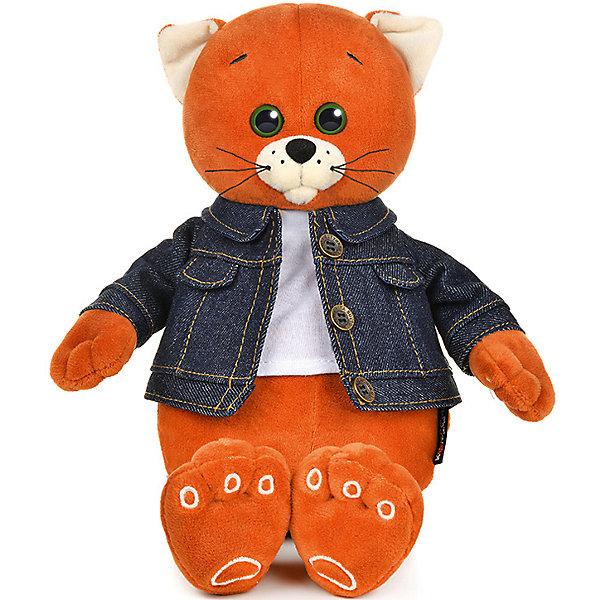 Мягкая игрушка Колбаскин&Мышель Колбаскин в джинсовой куртке 25 см фото