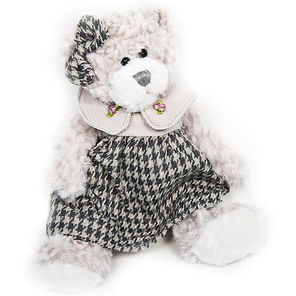 Maxitoys Мягкая игрушка Luxury Мишка Белла в платье 20 см