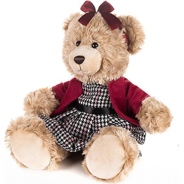 Maxitoys Мягкая игрушка Luxury Мишка Моника в красном жакете 25 см