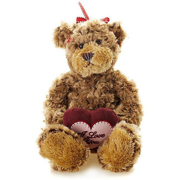 Maxitoys Мягкая игрушка Luxury Мишка Рита с сердцем 23 см