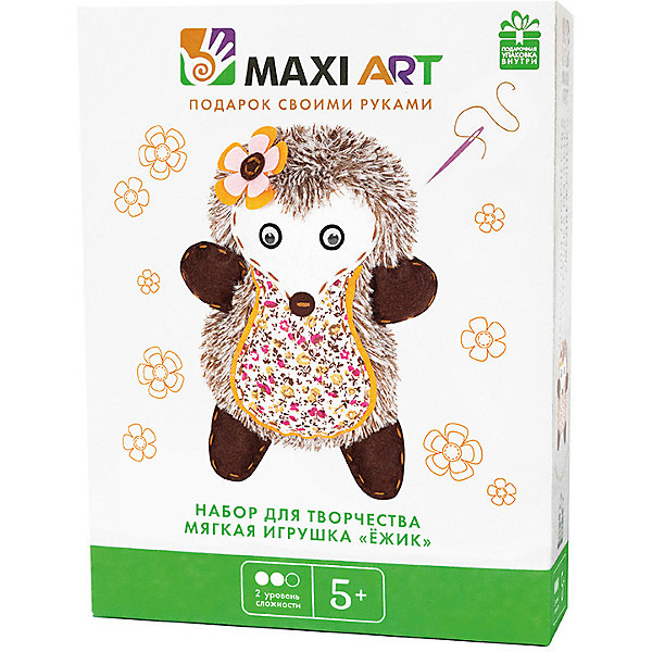 Maxi Art Набор для творчества Maxi Art Мягкая игрушка Ёжик наклейка