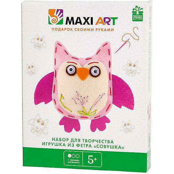 Maxi Art Набор для творчества Maxi Art Игрушка из фетра Совушка наклейка