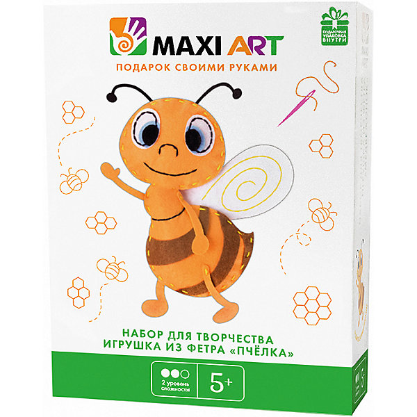 Maxi Art Набор для творчества Maxi Art Игрушка из фетра Пчёлка наклейка