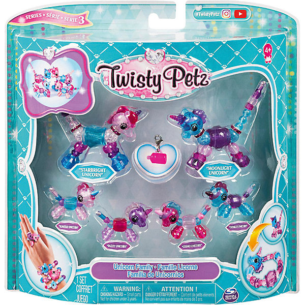 Twisty Petz Набор игрушек-украшений Pets Семья Единорогов