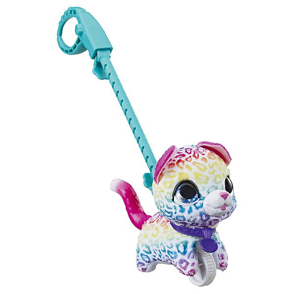 Hasbro Мягкая игрушка FurReal Friends Маленький питомец на поводке Котенок