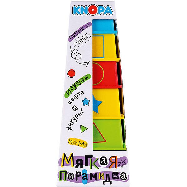 Knopa Мягкая пирамидка стаканчики с наклейками Дидактика