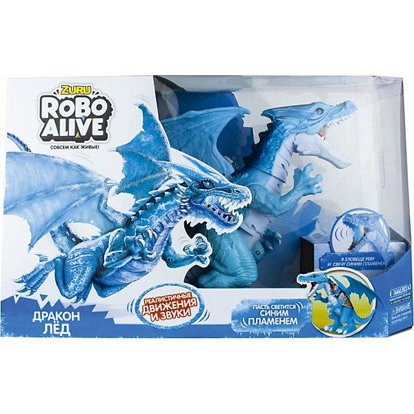 1Toy Радиоуправлемая игрушка Zuru RoboAlive Робо-дракон Лёд