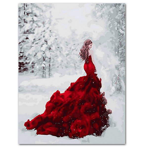 Купить Набор для раскрашивания по номерам Цветной Огненное платье , ТМ Цветной, Китай, Унисекс