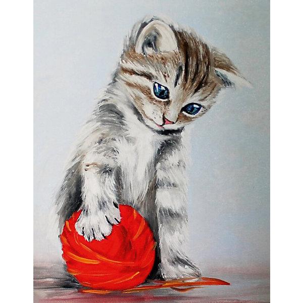 ТМ Цветной Набор для создания картины из мозаики Котенок с красным клубком