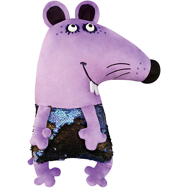 Играмир Мягкая игрушка с пайетками Disco Мини Диско Мышь, 27 см