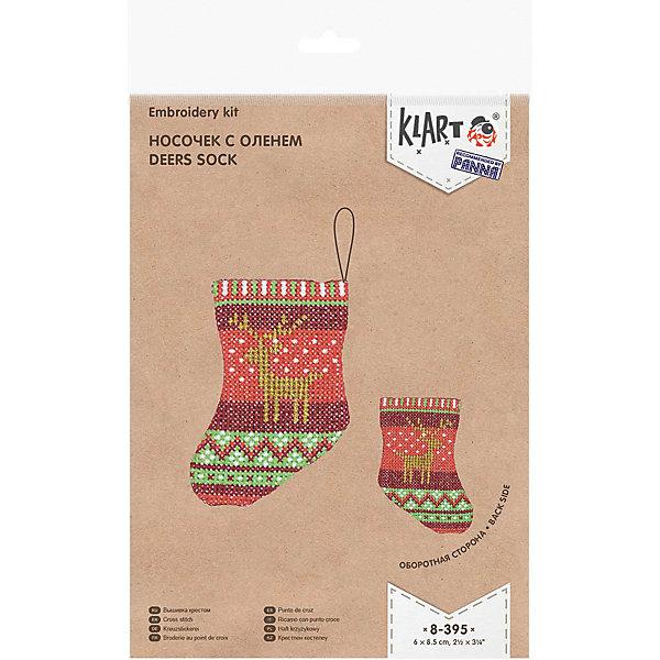 Klart Набор для вышивания Klart Носочек с оленем klart набор для вышивания klart носочек с оленем