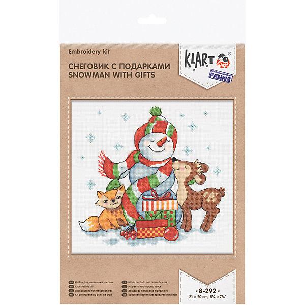Klart Набор для вышивания Снеговик с подарками