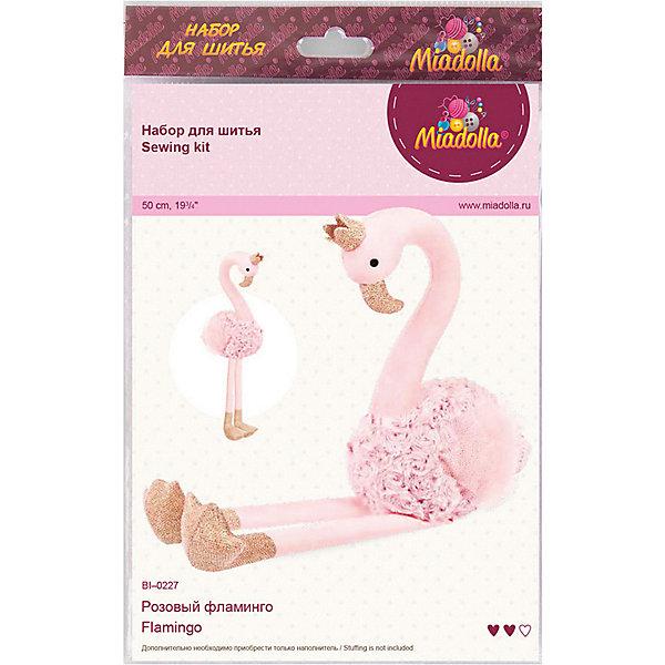 "Miadolla Набор для шитья игрушки Miadolla ""Розовый фламинго"""