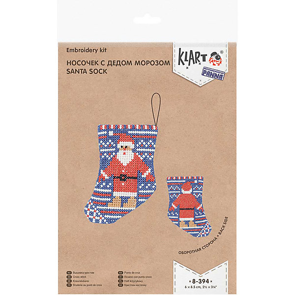 Klart Набор для вышивания Klart Носочек с Дедом Морозом klart набор для вышивания klart носочек с оленем