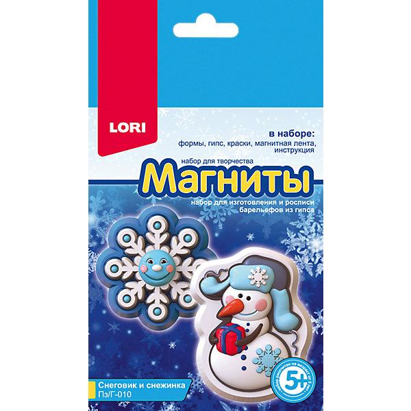 Купить Магниты из гипса Lori магниты из гипса Снеговик и снежинка , Россия, Унисекс