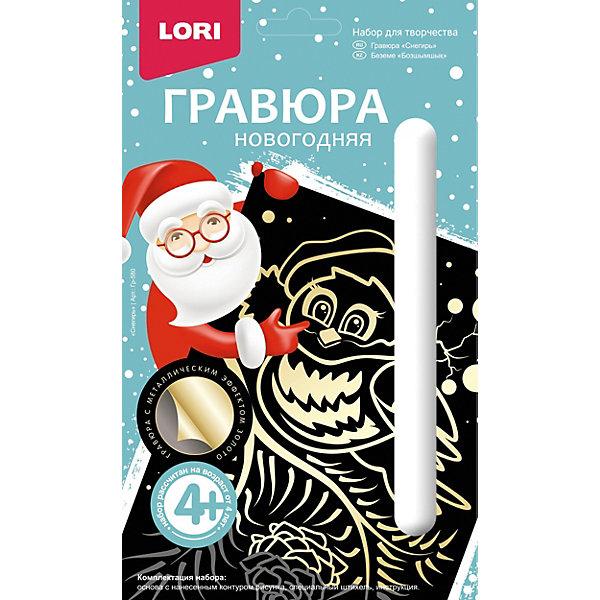 LORI Гравюра новогодняя Lori Снегирь