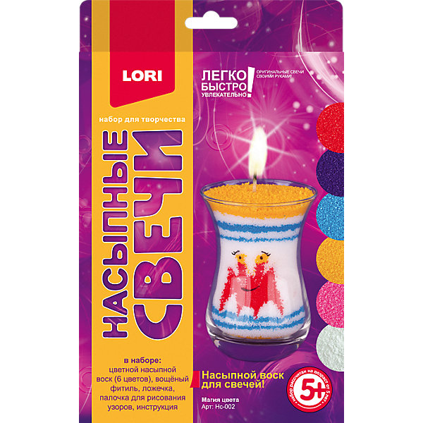 Купить Насыпной воск для свечей Lori Магия цвета , Россия, разноцветный, Унисекс