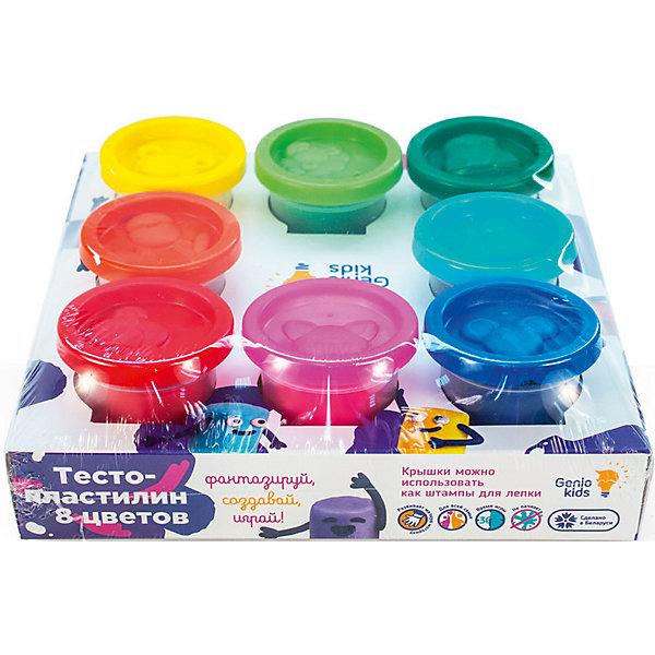 Купить Набор для детской лепки «Тесто-пластилин 8 цветов», Dream Makers, Беларусь, белый, Унисекс