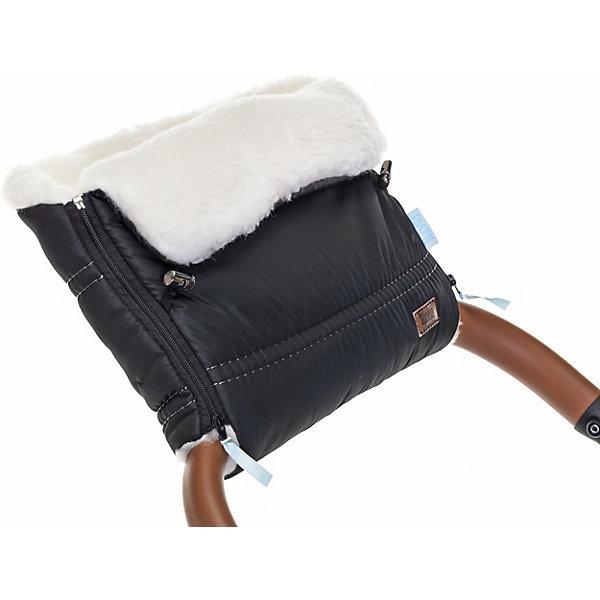 Nuovita Муфта для коляски Alpino Bianco, чёрная