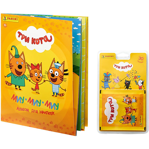 Panini Альбом и блистер с наклейками Три кота, 30 наклеек