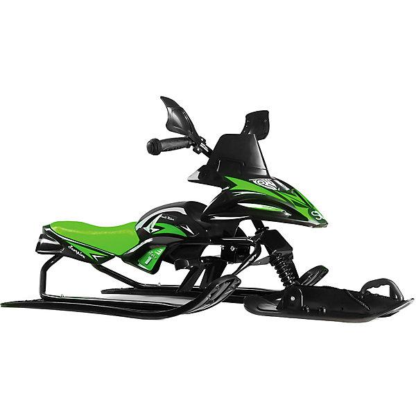 Купить Снегокат-снегоход Small Rider Scorpion Solo, черно-зеленый, Китай, Унисекс