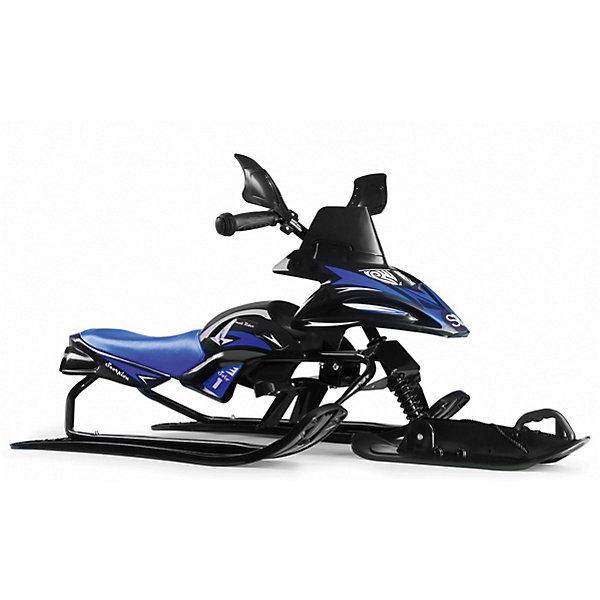 Купить Снегокат-снегоход Small Rider Scorpion Solo, черно-синий, Китай, Унисекс