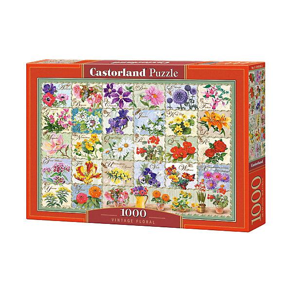 Купить Пазл Castorland Цветы. Коллаж , 1000 деталей, Польша, Унисекс