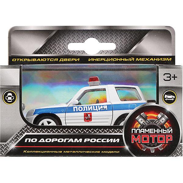 Пламенный мотор Машина металлическая Полиция