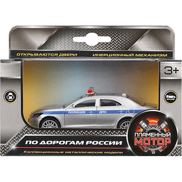 Пламенный мотор Машина металлическая Полиция ДПС