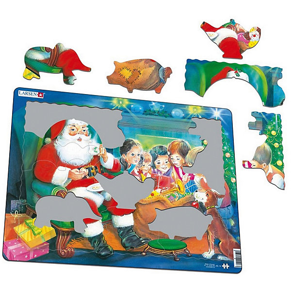 цена на Larsen Пазл Larsen Санта с детьми