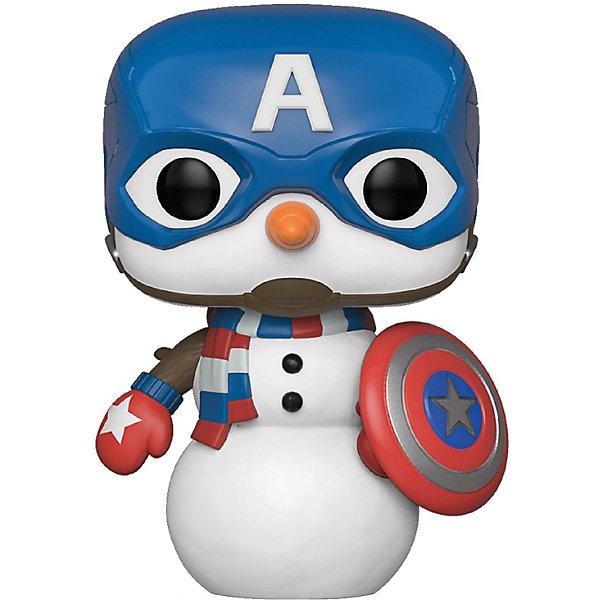 Funko Фигурка POP! Bobble: Marvel: Рождественский Капитан Америка, 43335