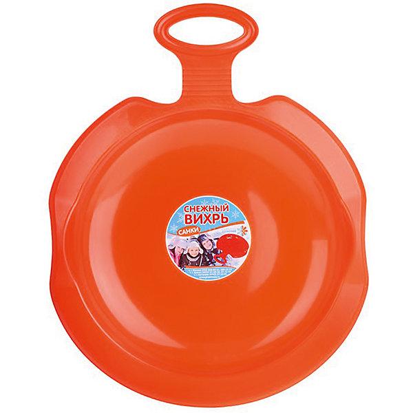 Пластик Ледянка Снежный вихрь, оранжевая пластик ледянка снежный вихрь салатовая