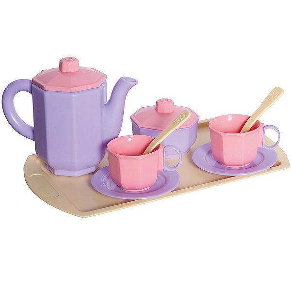 Огонек Набор посуды чайный Огонёк Принцесса лимонный поднос