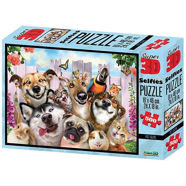 Prime 3D Пазл Prime 3D «Селфи домашних питомцев», 500 деталей (стереоэффект) пазлы prime 3d пазл super коллаж кошки 500 деталей
