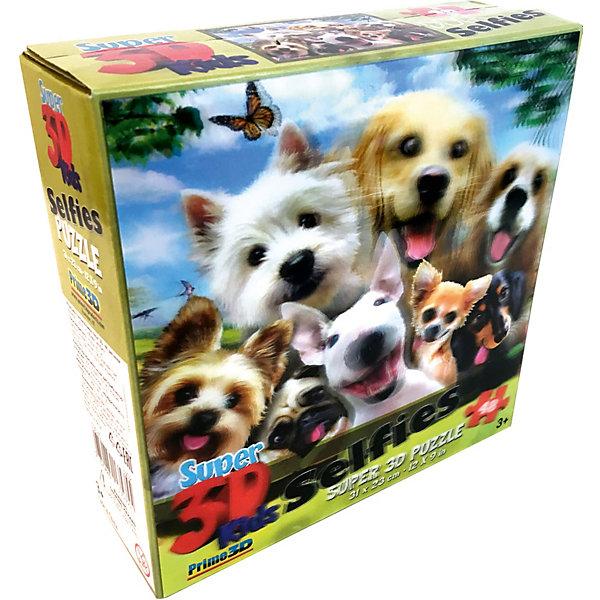 Prime 3D Пазл «Собаки селфи», 48 деталей (стереоэффект)