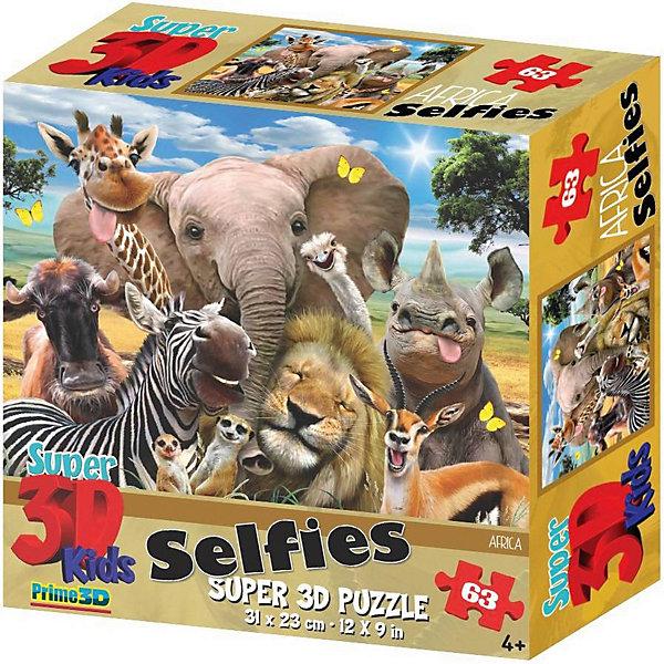 Купить Пазл Prime 3D «Африка селфи», 63 деталей (стереоэффект), Китай, Унисекс