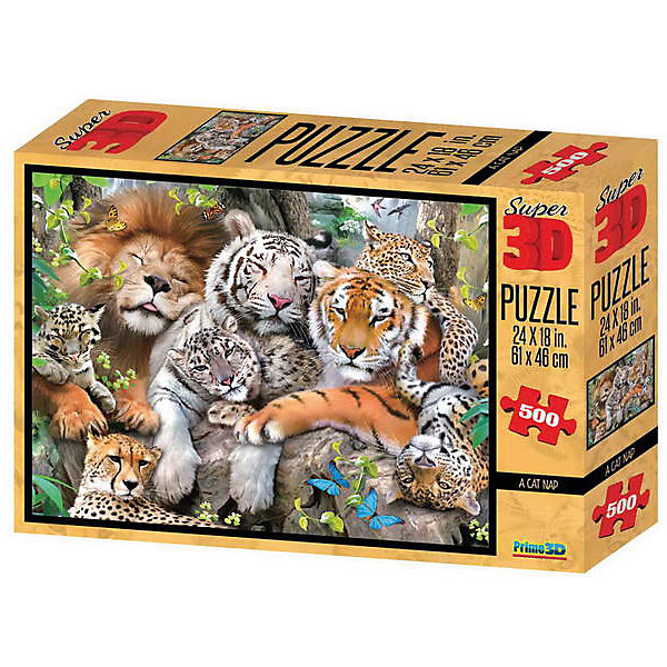 Prime 3D Пазл Prime 3D «Кошачий сон», 500 деталей (стереоэффект) пазлы prime 3d пазл super коллаж кошки 500 деталей