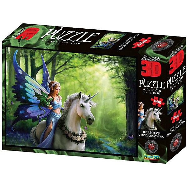 Prime 3D Пазл Prime 3D «Царство очарования», 500 деталей (стереоэффект) пазлы prime 3d пазл super коллаж кошки 500 деталей
