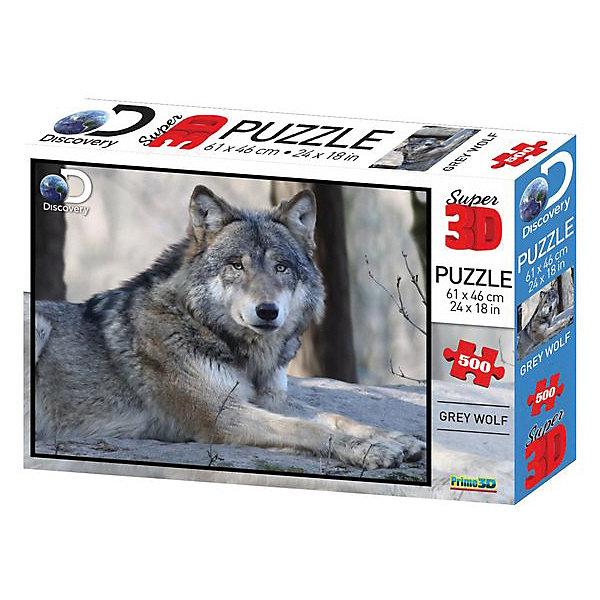 Prime 3D Пазл Prime 3D «Волк», 500 деталей (стереоэффект) пазлы prime 3d пазл super коллаж кошки 500 деталей