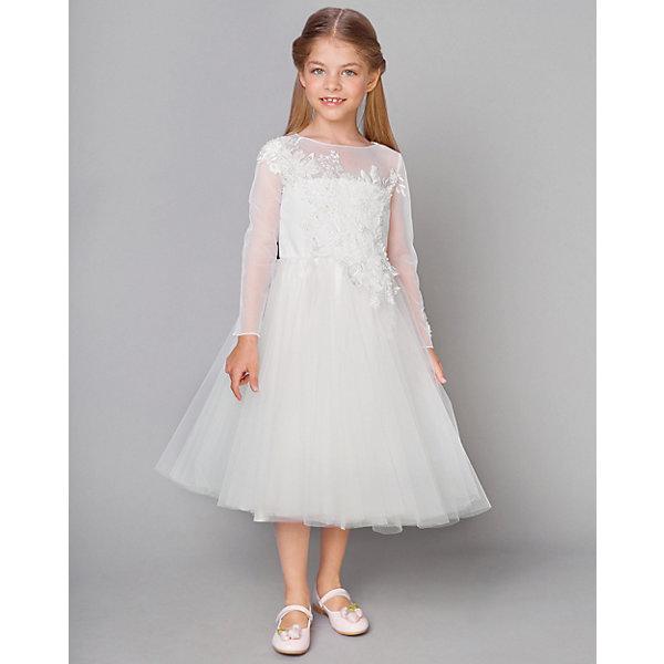 Купить Нарядное платье Choupette, Россия, белый, 110, 98, 140, 122, 128, 116, 146, 134, 104, Женский