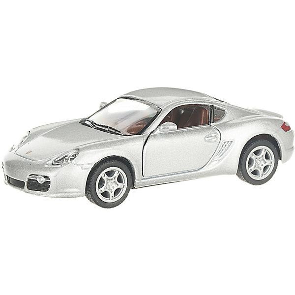 Serinity Toys Коллекционная машинка Porsche Cayman, серебристая