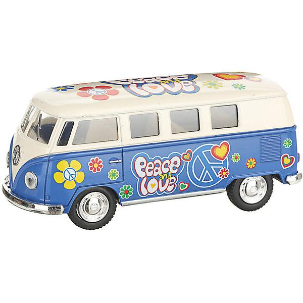 Serinity Toys Коллекционная машинка 1962 Volkswagen Classical Bus, бежево-голубой