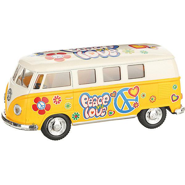 Serinity Toys Коллекционная машинка 1962 Volkswagen Classical Bus, бежево-жёлтый