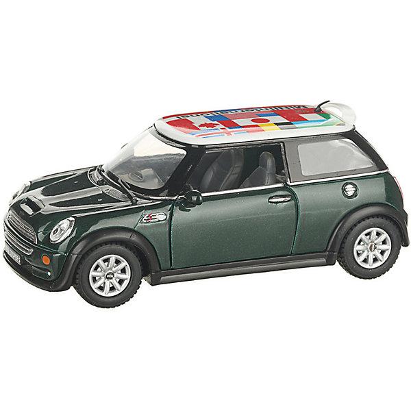 Serinity Toys Коллекционная машинка Mini Cooper S с флагом, зелёная