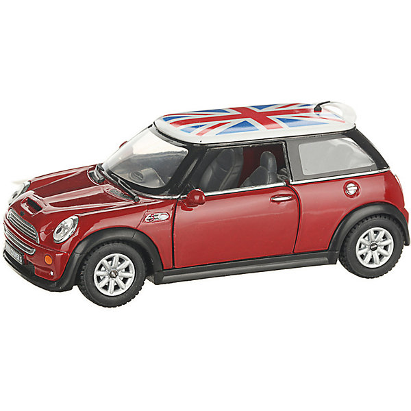Serinity Toys Коллекционная машинка Mini Cooper S с флагом, красная
