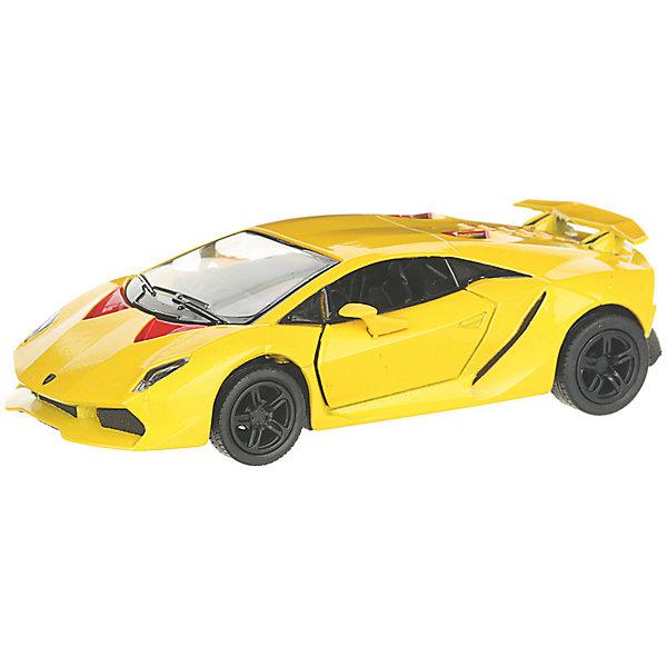 Serinity Toys Коллекционная машинка Lamborghini Sesto Elemento, жёлтая