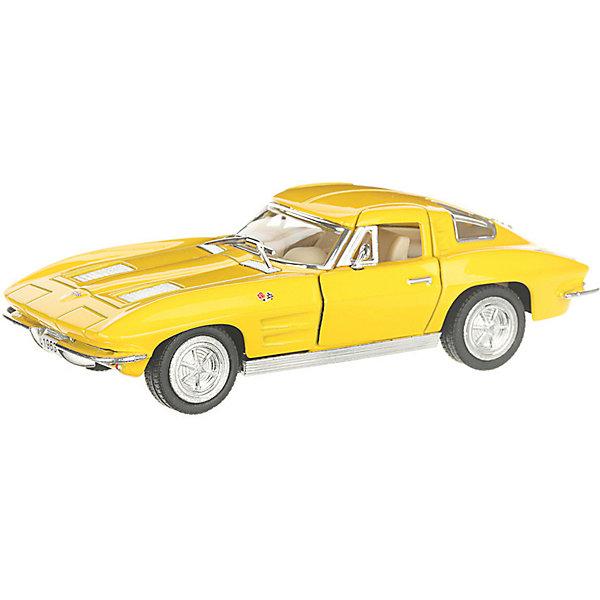 Фото - Serinity Toys Коллекционная машинка Serinity Toys 1963 Chevrolet Corvette Sting Ray, жёлтая serinity toys коллекционная машинка serinity toys 1963 chevrolet corvette sting ray красная