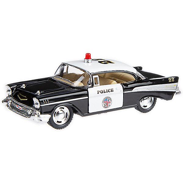 Serinity Toys Коллекционная машинка Serinity Toys Chevrolet Bel Air Полиция, чёрно-белая машинка на радиоуправлении yako toys toys джип пластмасса металл от 6 лет чёрно оранжевый