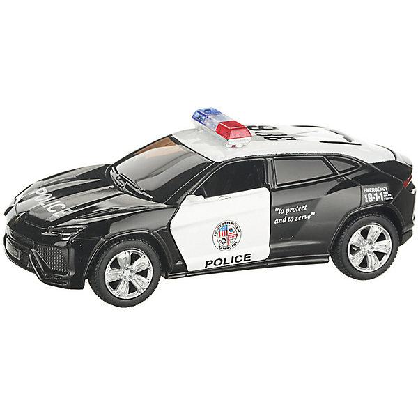 Serinity Toys Коллекционная машинка Serinity Toys Lamborghin Urus Полиция, чёрно-белая машинка на радиоуправлении yako toys toys джип пластмасса металл от 6 лет чёрно оранжевый